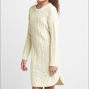 Gap girls sweater dress, ivory color, with sequins